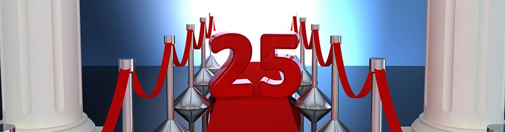 25 års jubilæum – det skal du huske